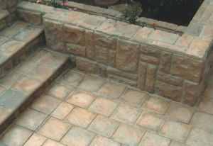 flagstone paving and wall cladding
