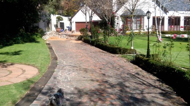 Repairing paving in Bryanston