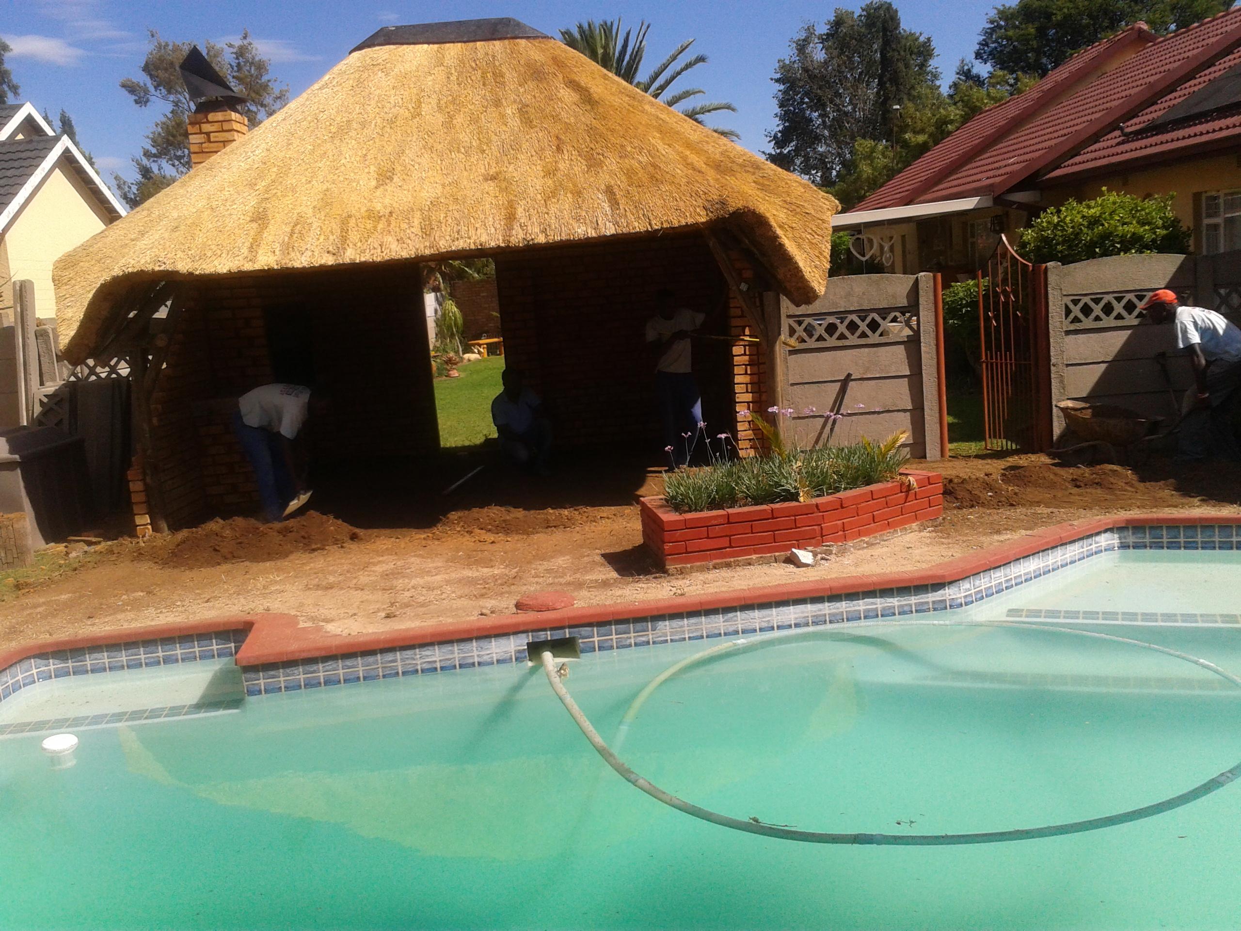 Lapa Pool Paving Progress Photos Aztec Paving