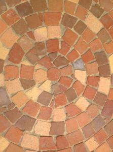 Clay broken brick cobble