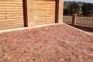 red broken brick cobble
