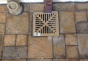 rain water drainage point