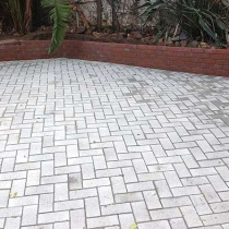 Grey paving for driveway